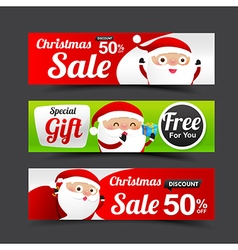 031 Collection of Merry Christmas Santa Claus tag vector