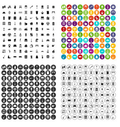 100 cleaning icons set variant vector