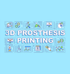 3d prosthesis printing word concepts banner vector