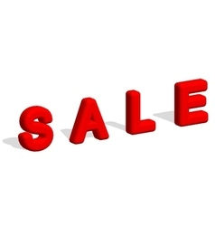 3d text SALE Sale poster isolated white vector