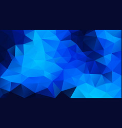 Abstract irregular polygonal background neon blue vector