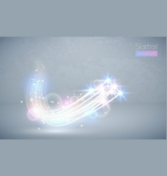 abstract magic white glow star light effect vector image