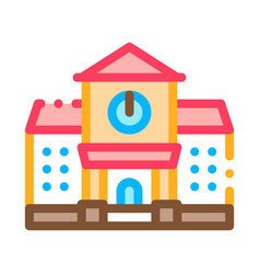 academy study building icon outline vector image