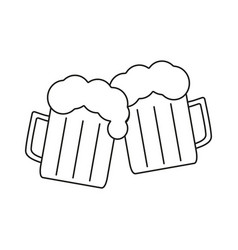 beer for friendly icons vector image