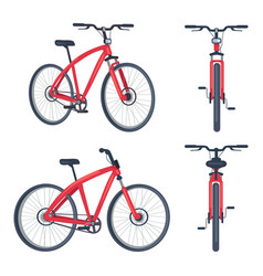bike with pedals and rudder front view bicycle vector image