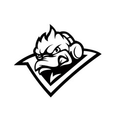 Black and white duck used for logos and other vector