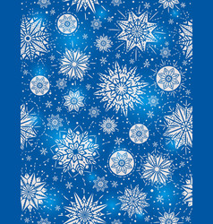 Blue christmas seamless pattern background vector