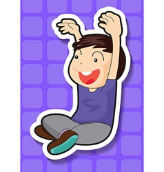 Boy sitting vector image