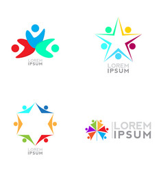 business logo set vector image