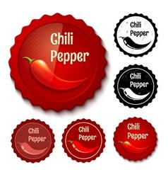 chili banner retro vector image