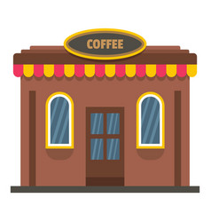 coffee shop icon flat style vector image