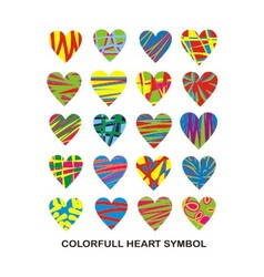 colorful heart symbol vector image