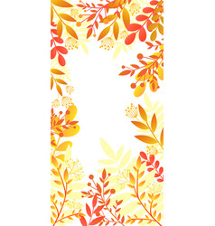 colorful invitation card with bright autumn plants vector image