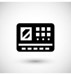 Control panel icon vector image