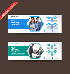 Corporate business web banners vector