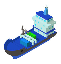 Delivery ship icon isometric style vector
