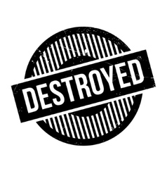 Destroyed rubber stamp vector