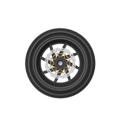 detailed drawing motorcycle wheel vector image