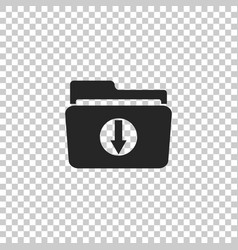 download arrow with folder icon isolated vector image