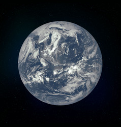 earth realistic planet vector image