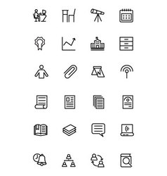 Education Line Icons 6 vector
