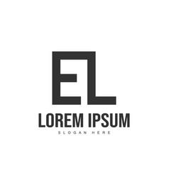 el letter logo design initial letter logo template vector image