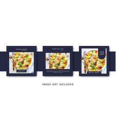 Elegant premium restaurant food beverage social vector