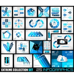 Extreme Collection of 25 quality Infographics vector image