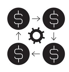 finance management black concept icon vector image