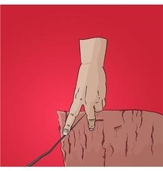 Finger walk on string cliff vector