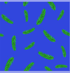 Fir green branches pattern vector