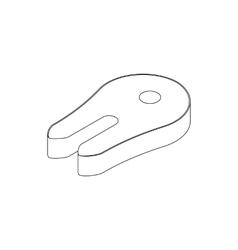 Fish slice icon isometric 3d style vector image