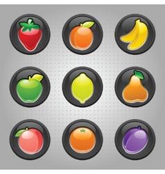 Fruit machine icons vector