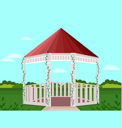 Garden house decor background vector