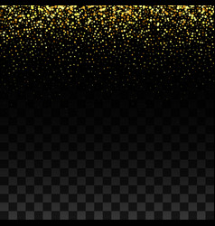 Gold glitter background with sparkle shine light vector