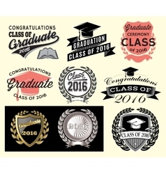 Graduation sector set Class of 2016 Congrats grad vector
