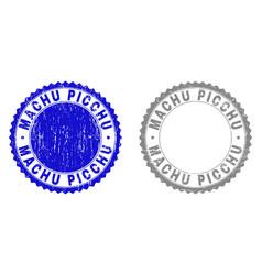 Grunge machu picchu textured watermarks vector