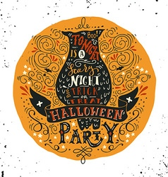 Halloween party poster with an old owl vector image