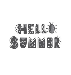 hand-lettering quotes of summer vector image