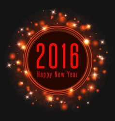 happy new year text 2016 poster frame magic vector image