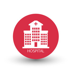 hospital building icon vector image