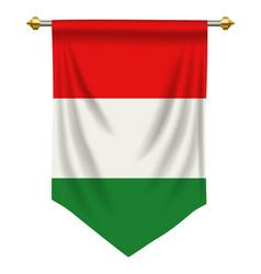 Hungary pennant vector
