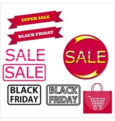 Icons for Black Friday and Cyber Monday vector