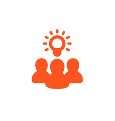 idea insight brainstorm icon on white vector image