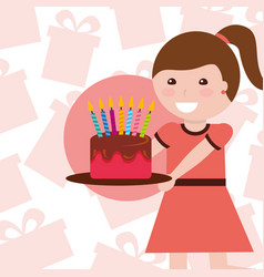kids happy birthday vector image