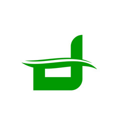 letter d eco modern vector image