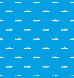 Little powerboat pattern seamless blue vector