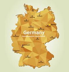 map germany - bundesrepublik deutschland vector image