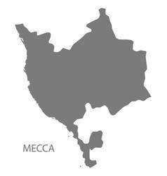 Mecca saudi arabia map grey vector