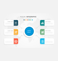 Modern and creative infographic design with color vector